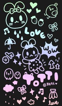 토띠_낙서 카톡테마 poster