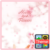 갤럭시 S8 Heart and Flowers 카톡 테마 icon