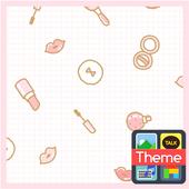 핑크 메이크업 패턴 카카오톡 테마 icon