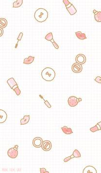 핑크 메이크업 패턴 카카오톡 테마 poster