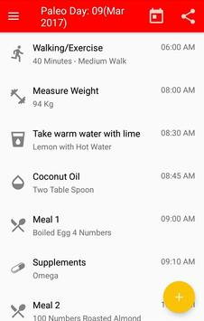 Paleo Diet Diary apk screenshot