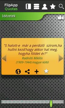 FlipApp FamousQuotes Hungarian poster