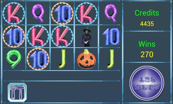 A8  Halloween Slot Machine poster