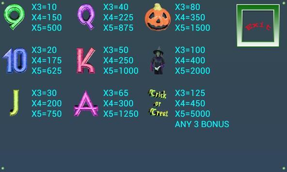 A8  Halloween Slot Machine screenshot 5