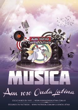 AM 1010 Onda Latina poster