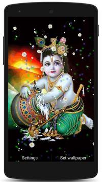 Lord Krishna Live HD Wallpaper poster
