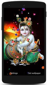 Lord Krishna Live HD Wallpaper screenshot 2