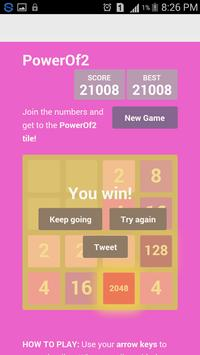 PowerOf2 Game apk screenshot