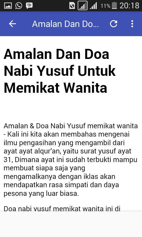 Amalan Doa Nabi Yusuf For Android Apk Download