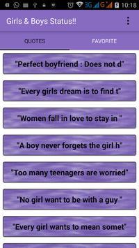 Girls Boys Status screenshot 1