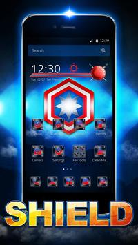 Captain Shield Theme apk screenshot