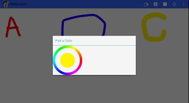 Finger paint ( Kids Art Game) apk screenshot
