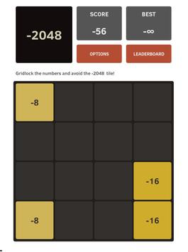 Negative 2048 apk screenshot
