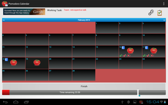 Task Timer Calendar screenshot 2