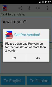 Filipino English Translator apk screenshot
