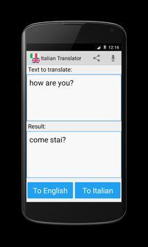 Italian English Translator poster