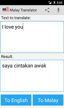 Malay english translator apk screenshot