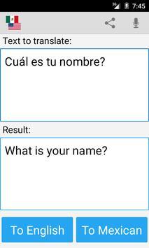 Mexican English Translator apk screenshot
