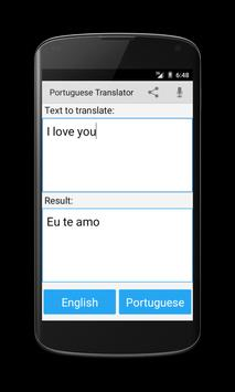 Portuguese English Translator apk screenshot