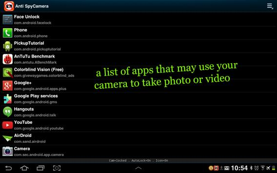 FREE Anti Spy Camera Lock apk screenshot