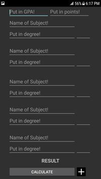 GPA Calculator screenshot 1