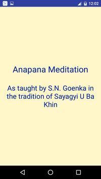 Anapana Meditation poster