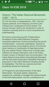 Class 10 ICSE Syllabus screenshot 2