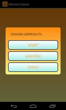 Memory Game for kiddies apk screenshot