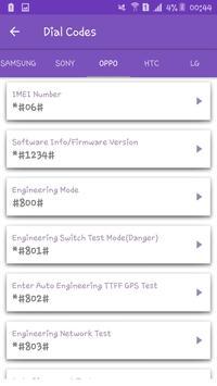 Secret Codes For Andorid Phones screenshot 3