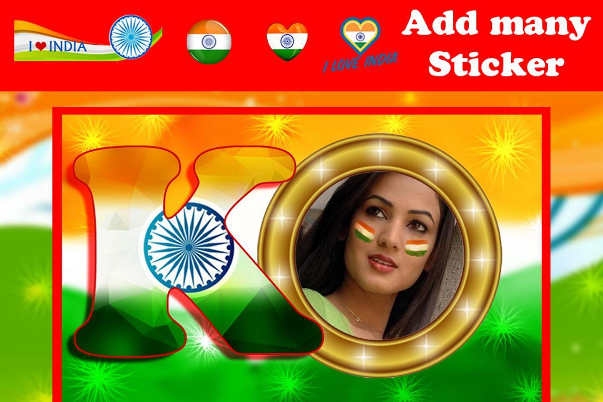 ABCD Indian Flag Letter Photo Frame für Android - APK herunterladen