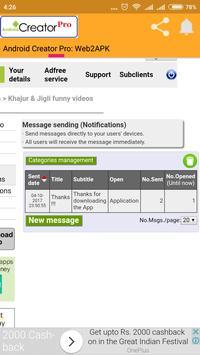 Android Creator Pro: Web2Apk screenshot 3