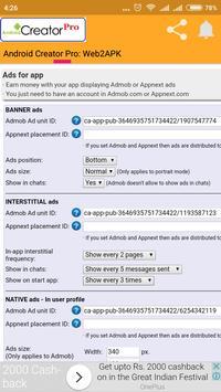 Android Creator Pro: Web2Apk screenshot 2