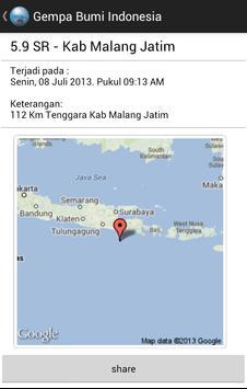 Gempa Bumi Indonesia apk screenshot