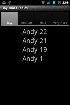 Tiny Times Tables apk screenshot