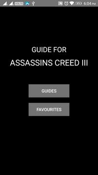 Guide for Assassins Creed III poster