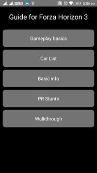Guide for Forza Horizon 3 screenshot 1