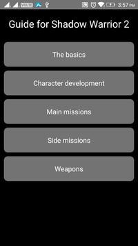 Guide for Shadow Warrior 2 apk screenshot