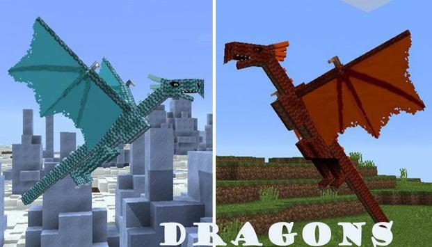 Dragon Mod for Minecraft PE poster