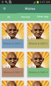Gandhi Jayanti Wishes-SMS poster