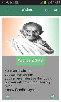 Gandhi Jayanti Wishes-SMS screenshot 1