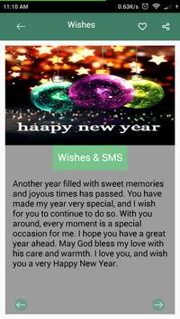 Happy New Year Wishes-SMS screenshot 2