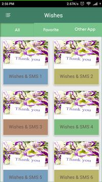 Thank You Wishes-SMS poster