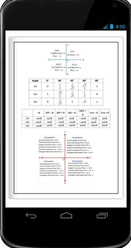 trigonometric formulas pdf free download
