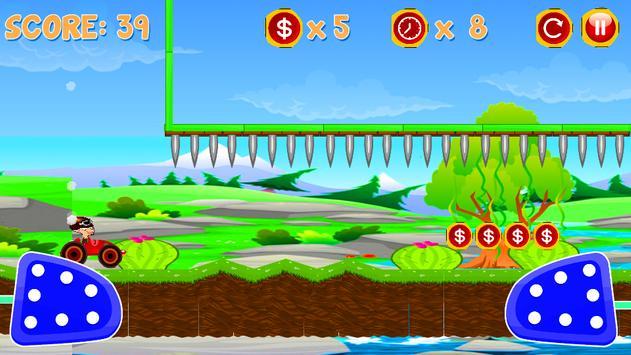 Angry Bean Hill Climb Racing apk screenshot
