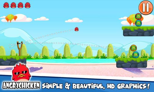 Angry Chicken Knock Down - Hungry Birds Slingshot screenshot 5