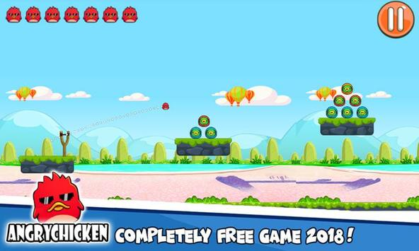 Angry Chicken Knock Down - Hungry Birds Slingshot screenshot 6
