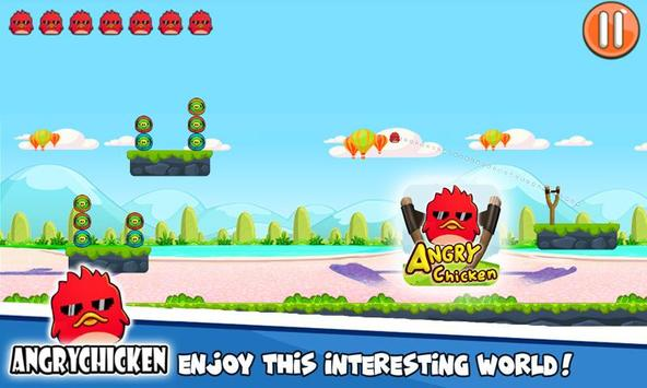 Angry Chicken Knock Down - Hungry Birds Slingshot screenshot 7