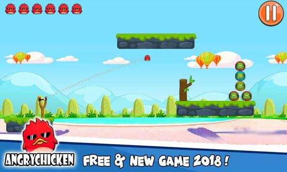 Angry Chicken Knock Down - Hungry Birds Slingshot screenshot 13