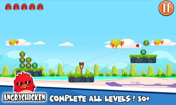 Angry Chicken Knock Down - Hungry Birds Slingshot screenshot 14