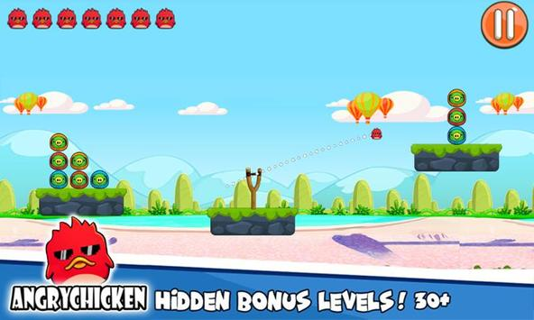 Angry Chicken Knock Down - Hungry Birds Slingshot screenshot 18